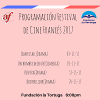 Programación Festival de Cine Francés